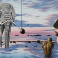 Лив Тайлор, созерцающая слона