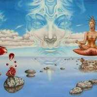 Ловец снов или медитация в белых облаках.
