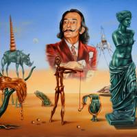 Оммаж Дали. Сальвадор восхищенно созерцает свой вклад в мировое искусство.